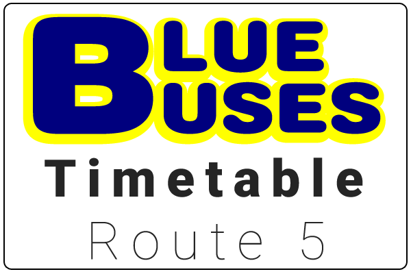 Blue Buses Route 5 Timetable Download